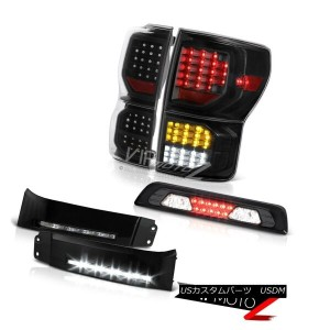 テールライト 07-13 Toyota Tundra SR5 Black Taillamps Bumper DRL Phantom Smoke Roof Cab Lamp 07-13トヨタトンドラSR...
