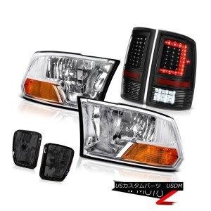 テールライト 13-18 RAM 1500 Tail Lamp Smokey Fog Lights Chrome Factory Style Headlight SET 13-18 RAM...