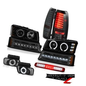 テールライト 03-06 Silverado Red Third Brake Lamp Fog Lamps Parking Headlights Taillamps LED 03-06シルバラードレッ...