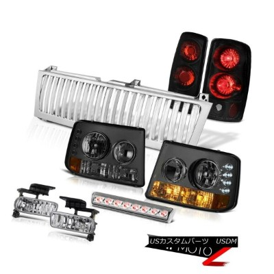 テールライト 00-06 Chevy Tahoe Smoke Headlights Tail Brake Lights Euro Fog LED Chrome Grille 00-06 Chevy...