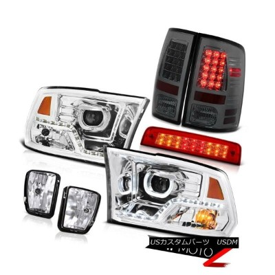 テールライト 2013-2018 RAM 1500 Chrome DRL Headlamp Third Brake Light Fog Lamps Led Tail SET 2013-2018...