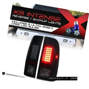 "テールライト {CREE LED BACKUP} 07-16 Ford F250 F350 F450 SuperDuty ""SINISTER BLACK"" Taillight {CREE LED..."