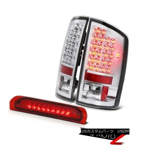 テールライト 02-2005 Dodge Ram 1500 Crystal Clear Led Tail Light+Red SMD Rear 3rd Brake Lamps 02...