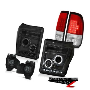 テールライト 11-16 F350 Lariat Smokey Fog Lights Wine Red Taillights Projector Headlamps SMD 11-16...