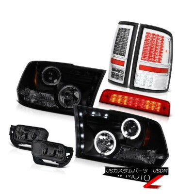 テールライト 09-13 Ram 1500 6.4L Rosso Red Roof Cab Light Tail Lights Foglamps Headlights LED 09-13ラム1500...