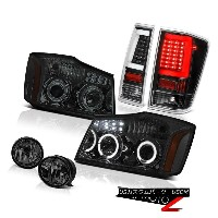 テールライト 04-11 12 13 14 For Nissan Titan Smoked Driving Black Rear Projector Head Lights 04-11 12 13...