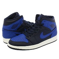 [ナイキ] NIKE AIR JORDAN 1 MID OBSIDIAN/GAME ROYAL/SUMMIT WHITE【25.0cm~28.5cm】 [並行輸入品]
