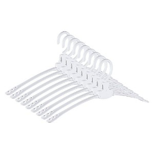 Neat Blanc Collapsible Clothes Hangers、襟保護デザイン – 9パック