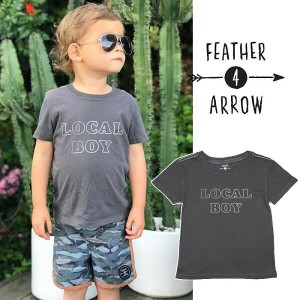 【P最大41倍&クーポン多数】キッズ Tシャツ フェザー4アロー FEATHER 4 ARROW [ Local Boy Vintage Tee ] 子供服 [メール便] [0401]
