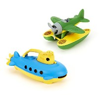 Green Toys Seaplane & Submarine Bath Toys by Green Toys