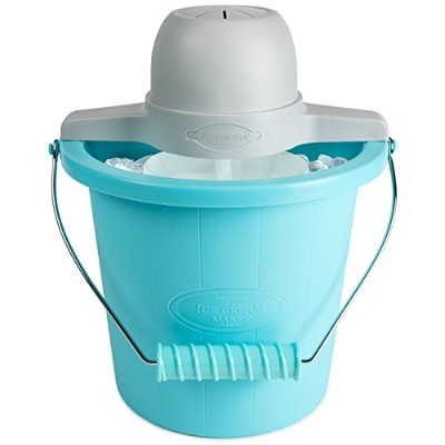 【並行輸入】Nostalgia Electrics ICMP400BLUE 4-Quart Electric Ice Cream Maker アイスクリームメーカー