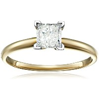 14 Kプリンセスカットソリティア婚約指輪3 / 4carat、H - I Color , i3 Clarity )