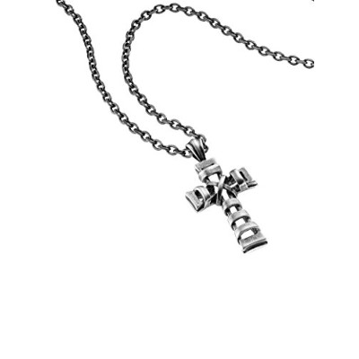 男性向けネックレスPolice Men Stainless Steel Pendant Necklace - PJ25903PSE.02[並行輸入品]