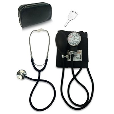 Primacare DS-9197-BK Classic Series Adult Blood Pressure Kit, Black with Stethoscope by PrimaCare...