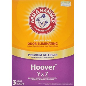Arm and Hammer Premium Vacuum Bags - Hoover Y/Z - Pack of 3 by Arm & Hammer