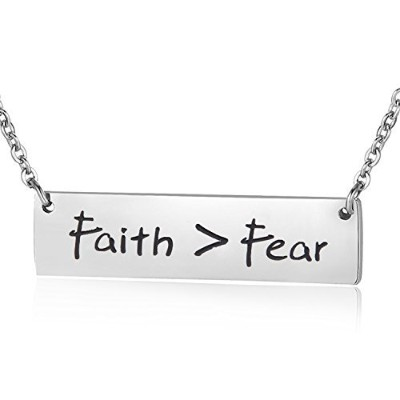ensianth Let Your Faith be Bigger Than Your FearネックレスインスピレーションジュエリーChristianギフトfor Her