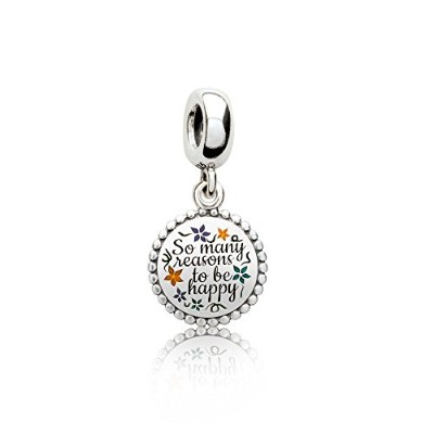 (パンドラ)PANDORA There Are So Many Beautiful Reasons to Be HAPPY レディース ペンダント チャーム (限定版) Ladies Pendant...