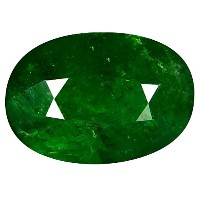 ツァボライトガーネット ルーズジェームズ 1.77 ct Oval Cut (8 x 6 mm) Russian Tsavorite Garnet Natural Loose Gemstone