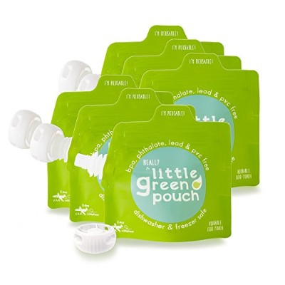 Little Green Pouch Reusable Food Pouch - 3.4 oz - 6 ct by Little Green Pouch