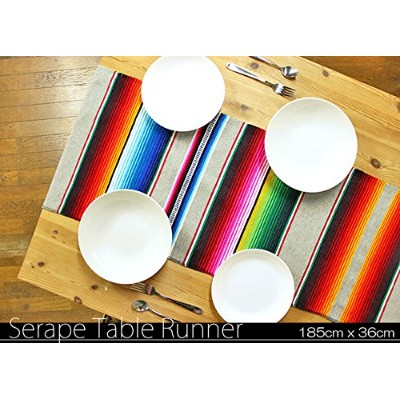 RUG&PIECE Mexican Serape Table Runner made in mexcico メキシカン サラペ テーブルランナー (rug-6157)