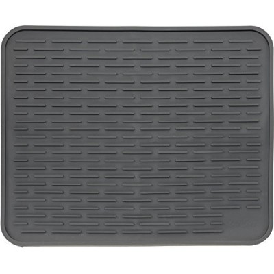 (Slate Gray) - XXL Super Size Silicone Dish Drying Mat 60cm x 46cm - Large Drainer Mat and Trivet...