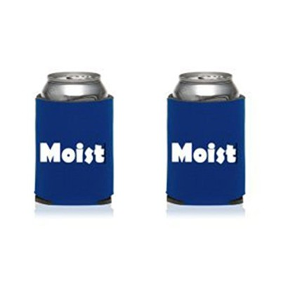 Can Cooler - Funny Insulated Beer Can Cooler - Set of TWO Moist with Moist Definition Collapsible...