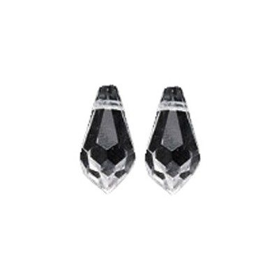 Swarovski # 6000 Top Hole Tear Drop Beads, Transparent, Crystal, 6.5 by 13mm, 6 Per Pack by...