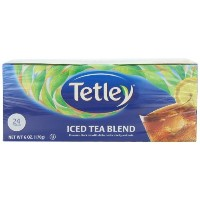 Tetley USA Round Iced Tea Blend Family Size, 24-Count Packages (Pack of 6) by Tetley