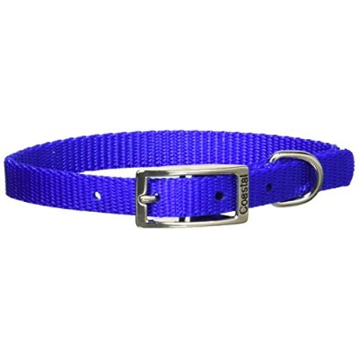 Coastal Dog Collar Small - 10 in. Blue with a Width of 3/8 in. by Coastal Pet