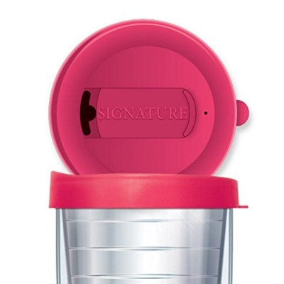 Signature Tumblers Travel Tumbler Cup Two Position Closure Lid (Traveler - 16 Oz, Pink) by Signature Tumblers
