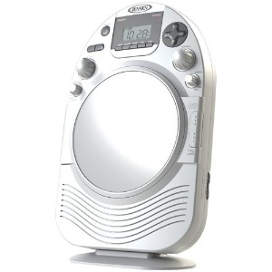1 - AM/FM Stereo Shower Radio with CD, Vertical-loading CD player, AM/FM stereo receiver with digital frequency display, JCR-525 by Jensen