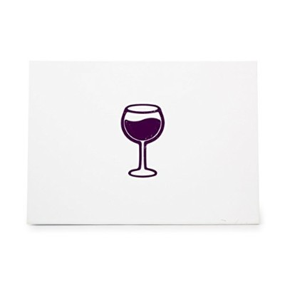 Wine Glass Style 6346, Rubber Stamp Shape great for Scrapbooking, Crafts, Card Making, Ink Stamping...