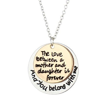 """Bling Stars母の日ギフト"""" The Love Between Mother and daugher is Forever """"ペンダントネックレス"""