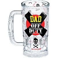 Tervis 1296175 Dad Off Duty Insulated Tumbler with Wrap , 16 oz Beer Mug、クリア