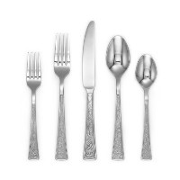 Cambridge Silversmiths Riverdale Texturedミラー20-piece Flatware Set