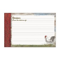 Brownlow Kitchen Recipe Cards, Barnyard Rooster, Multicolor by Brownlow Kitchen