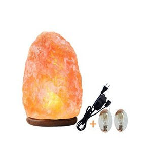Himalayan塩ランプNatural Glow Crystal Rock with UL Listed DimmerコードBulb for Hand Made by amoystone