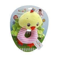 travetベッドHanging動物おもちゃソフト動物Handbell Strollers Hanging Rattles with BB音声Plush Toy o-type Rattle As...