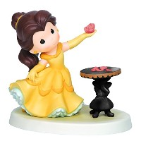 Precious Moments Disney Belle Holding Rose Figurine by Precious Moments [並行輸入品]