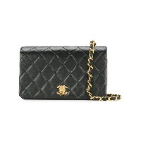 Chanel Vintage quilted flap shoulder bag - ブラック