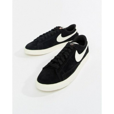 ナイキ レディース スニーカー シューズ Nike Blazer Trainers In Black And White Black