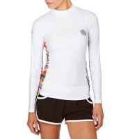 リップカール ラッシュガード Rip Curl All Over Long Sleeve Rash Vest White