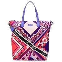 Emilio Pucci abstract print tote bag - ピンク&パープル