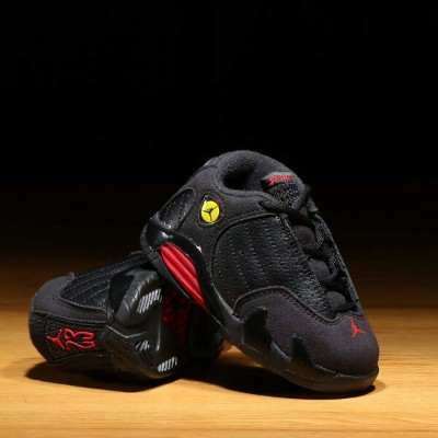 NIKE JORDAN 14 RETRO BT (ナイキ ジョーダン 14 レトロ BT) BLACK/VARSITY RED-METALLIC SILVER【キッズ スニーカー】18SU-S