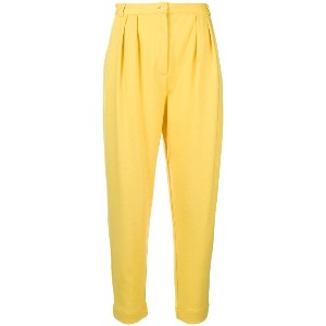 Styland tapered trousers - イエロー&オレンジ