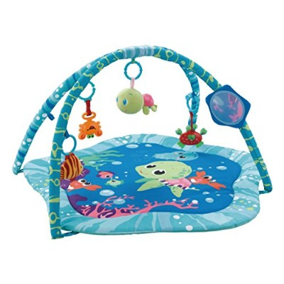EMILYSTORES Princess Prince Baby Activity Play Gym Mats Ocean Park 30x30 by EMILYSTORES