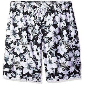 (3X Plus, Black) - Kanu Surf Men's Big Dominica Extended Size Quick Dry Beach Shorts Swim Trunks