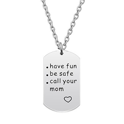 agr8tペンダントネックレス母の日ギフトMom Mommyファミリレディースジュエリー–Have Fun Be Safe Call Your Mom