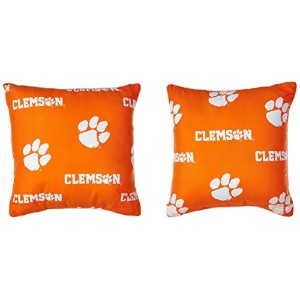 """College Covers Clemson Tigers装飾枕、16"""" x 16、"""" includes 2装飾枕"""