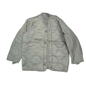 【DEAD STOCK】U.S.ARMY M-65 QUILTING LINER JACKET ライナー ジャケット GRAY SAGE size:X-SMALL Made in USA ...